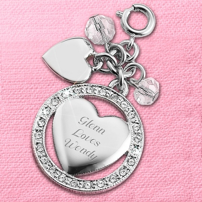 Personalized Engravable Heart Charm