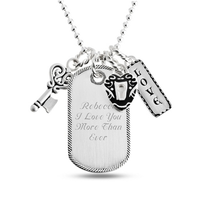 Love Dog Tag with complimentary Filigree Oval Box - UPC 825008242173