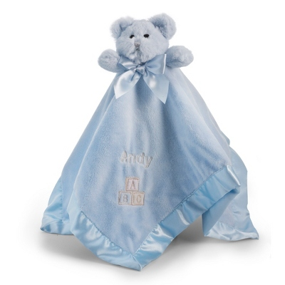 Personalized Blue ABC Bear Blankie