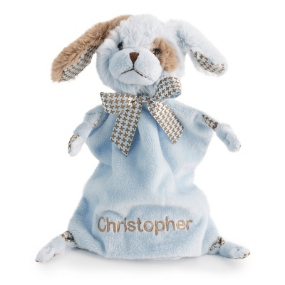 Personalized Blue Puppy Mini Blankie