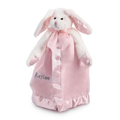 Personalized Bunny Snuggler Embroidered Blankie