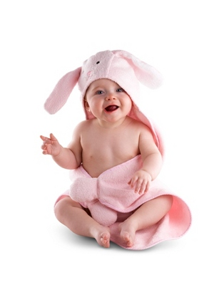Hooded Bunny Towel - UPC 825008242630