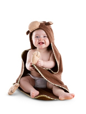 Hooded Monkey Towel - UPC 825008242647