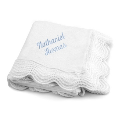 White Christening Blanket
