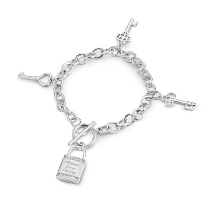 Multi-Key Bracelet with complimentary Filigree Keepsake Box - UPC 825008242753