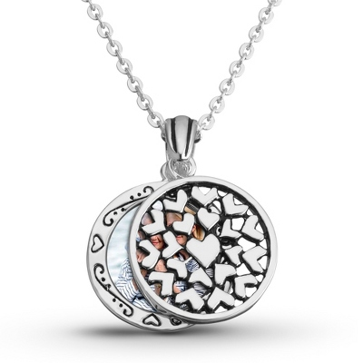 Expressions Pierced Hearts Pendant with complimentary Filigree Oval Box