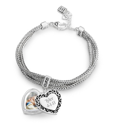 Expressions Photo Swing Bracelet with complimentary Filigree Oval Box