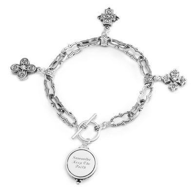Expressions Multi Cross Bracelet with complimentary Filigree Oval Box - Fashion Bracelets & Bangles