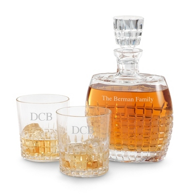 Cut Crystal Princeton Decanter Set - UPC 825008243484