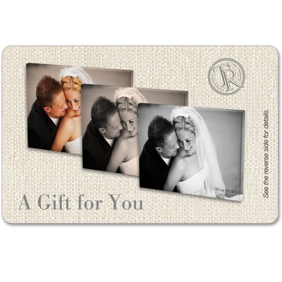 11x14 Photo to Canvas Art Gift Card with Personalization