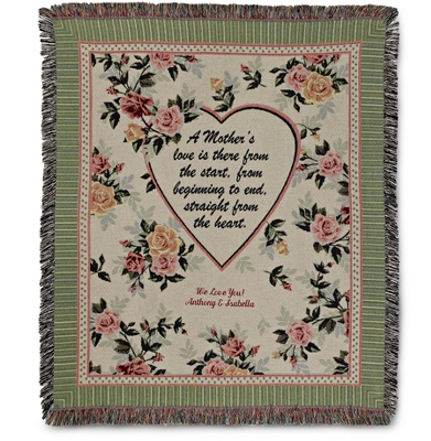 A Mother's Love Throw - $45.00
