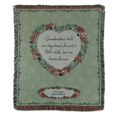 Floral Print Grandmother Throw - $45.00