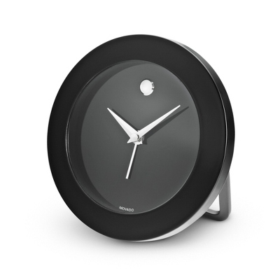 Personalized Movado Black Travel Table Clock by Things Remembered