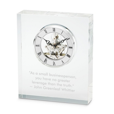 Glass Skeleton Clock - Business Gifts For Him