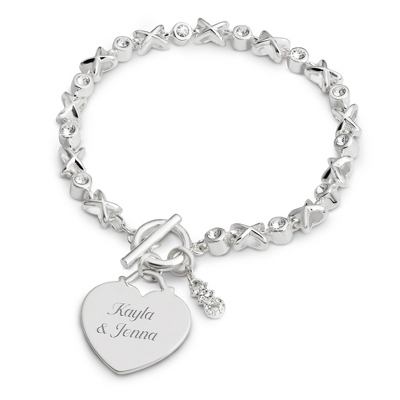 XO Toggle Bracelet with complimentary Filigree Keepsake Box - Fashion Bracelets & Bangles