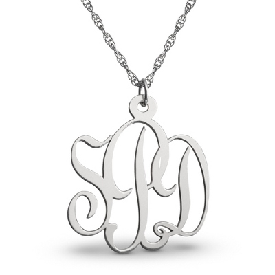 Sterling Silver Monogrammed Necklace - 3 products
