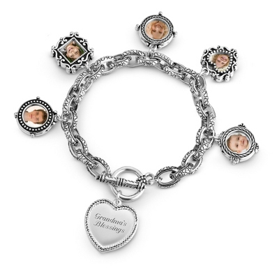 Expressions Multi Photo Bracelet with complimentary Filigree Heart Box - Fashion Bracelets & Bangles