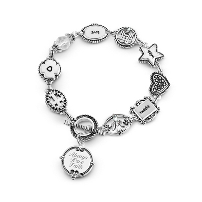 Personalized Engraved Silver Bracelets