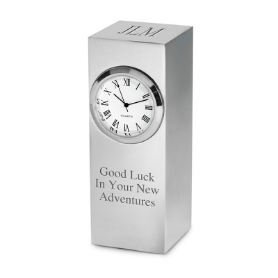 Silver Tower Clock - Home & Office Clocks