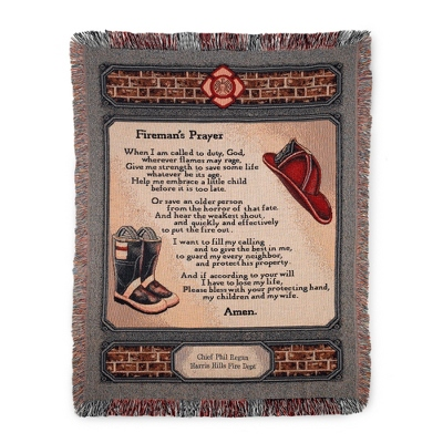 Fireman's Prayer Throw - $45.00