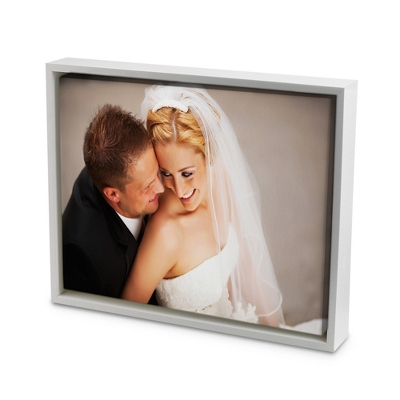 16x20 Color Photo to Canvas with Float Frame