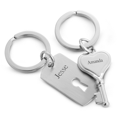 Personalized Lock and Key Chains