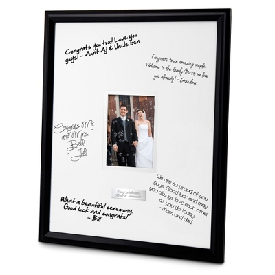 Engraved Double Graduation Photo Frame