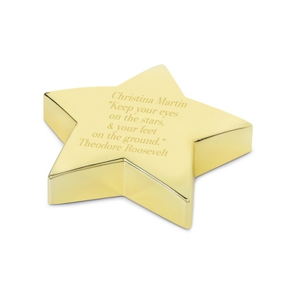 Gold Star Paperweight - $20.00