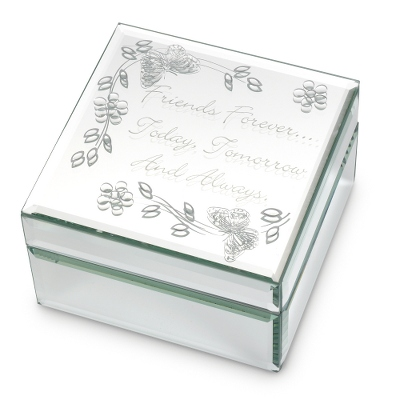 Glass Top Jewelry Box