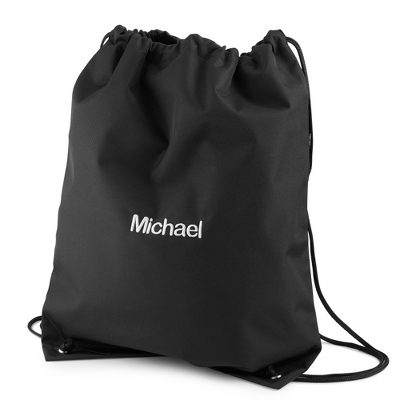 Black Drawstring Bag - $12.00