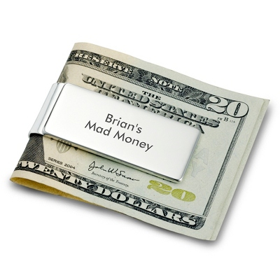 Personalized Classically Silver Money Clip by Things Remembered