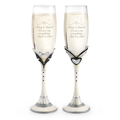 Mr. & Mrs. Toasting Flutes - $85.00