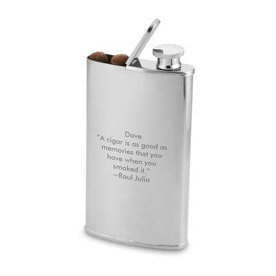 Buy cigars store - Personalized Stainless Steel Cigar Flask