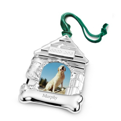 Dog House Silver-Plated Ornament