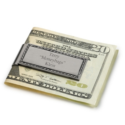 Personalized Mens Wallet with Money Clip