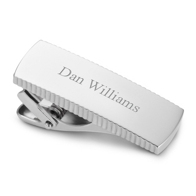 Engravable Tie Clip for Men