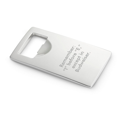 Silver Bottle Opener - Barware & Accessories