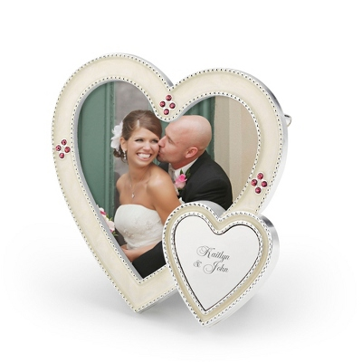 White Heart Photo Frame