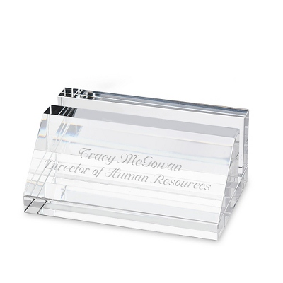 Crystal Card Holder - Desk Accessories