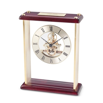 Gold Engravable Clocks