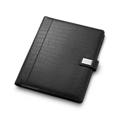 Black Croc 13 x 10 Padfolio - Padfolios & Journals