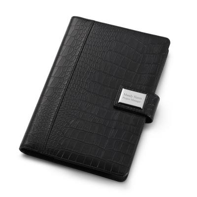 Black Croc 9 x 6 Padfolio