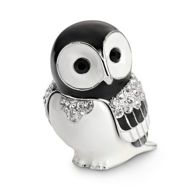 Personalized Miniature Owl Jeweled Box