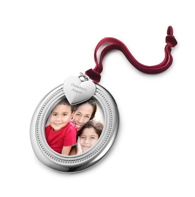 Oval Photo Frame Ornament - UPC 825008255340