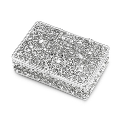 Silver Engraved Keepsake Box
