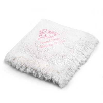 Girl Booties Design on White Mini Heart Throw