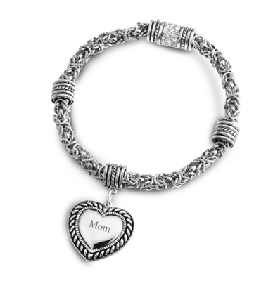 Rope Heart Bracelet with complimentary Filigree Keepsake Box