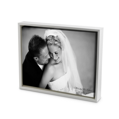 8x10 Black & White Photo to Canvas Art with Float Frame