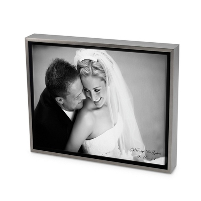 11x14 Black & White Photo to Canvas Art with Float Frame - Wedding Frames & Albums