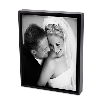 16x20 Black & White Photo to Canvas Art with Float Frame - Wedding Frames & Albums